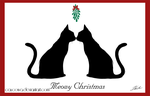 Christmas cat card 2013 - Meowy Christmas by caycowa