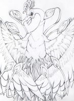 Ho-oh WIP by SunnyLedian