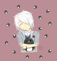 Ethan-chan with Penguin-san! by Riyuri
