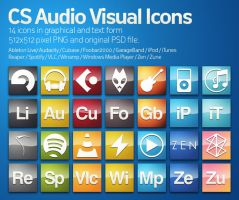 CS AudioVisual Icons by HeskinRadiophonic