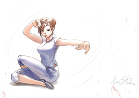 Chun-li Chinese boxing dance by Kumsmkii