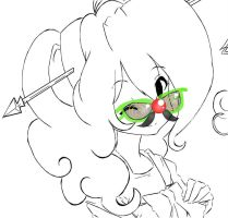 pinkie pie glases lineart by Invader-celes