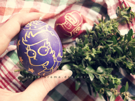 Easter Eggs - Alice and Bender by MissFuturama