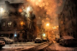 First Snow in Moscow 2008 by ixabar