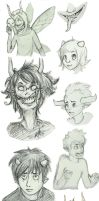 Homestuck Sketch Dump by Indigo-Wolf