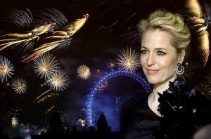 Gillian Anderson/Fireworks Wallpaper by oab1303