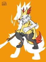 Braixen by HeavenlyCondemned