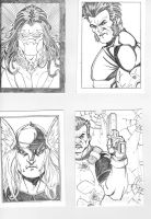 Charity Sketch Cards by Mulv