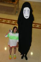 Chihiro and No Face at Fnaime 2012 by saquya3