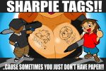 Sharpie Tags by ShoNuff44