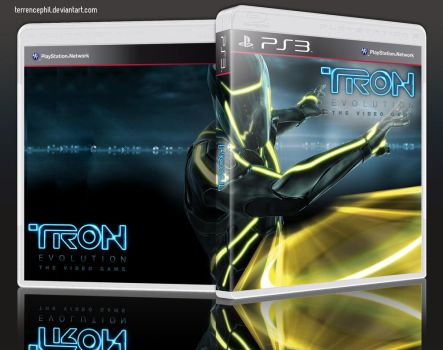 Tron: Evolution Playstation 3 Box Art by terrencephil