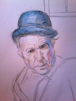 Detail of Tom Waits WIP by Cryogenox