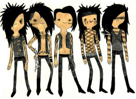 Black Veil Brides: Adventure Time style by TatsuoMizushima