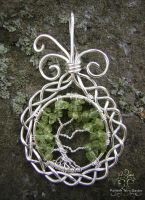 Silver Celtic by RachaelsWireGarden