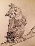 Daily Sketch: Great Horned Owl by weasels