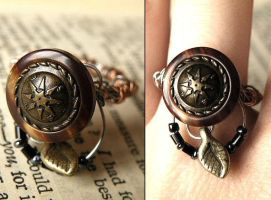 Navigation Steampunk ring by StaticSkies