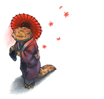 Japanese salamander lady by Keaze