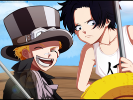 Sabo and Ace by 132Jester