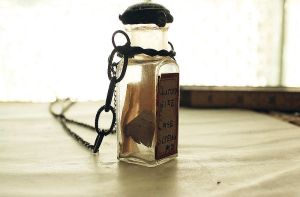 Altered Bottle Necklace by asunder