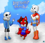 big happy family(undertle request) by BladeFoxfairy