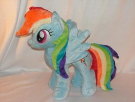 Commission: Rainbow Dash Plush by KarasuNezumi