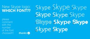 New Skype Logo: Which font? by metrovinz