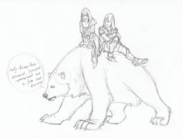 LizConnor_bear_ride by MoonLightRose17