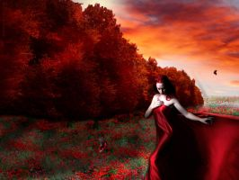 The lady in red by bcamelier