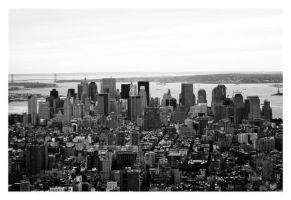 Manhattan Skyline by HMSpeedFreek
