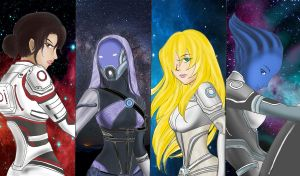 Girls in Mass Effect by RMTG