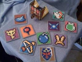 Zelda Coasters and Box by SpringDasie