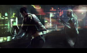 Cyber Bikers Mood by bradwright