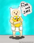 finn and jake babies by luxocrazy