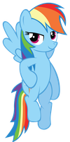 Happy Rainbow Dash by CSMLP