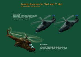 RA2 mod- gunship showcase by Harry-the-Fox