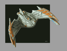 25th Century Romulan Bird Of Prey Redux TOS Color by Ihlecreations