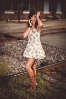 Leigh at Train Depot by phreakstorm