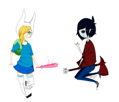Fionna.And.Marshall. by LunaxLove