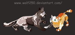 DarkWater and MellowHeart. by StarkHolmes