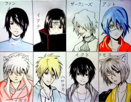 Top 8 Favourite Male Characters by J10-E-2