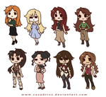 Chibi FMA OCs by Casadriss