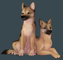 Pups by ManiacalMonsterr