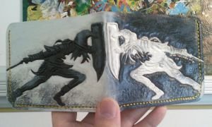 Dark Link Vrs Link leather wallet by mooglestiltzkin