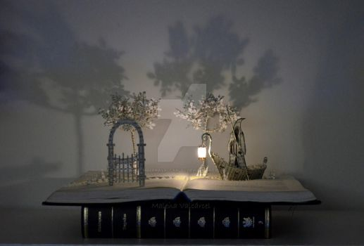 Charon - Door to a World of Dreams Book Sculpture by MalenaValcarcel