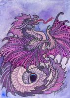 ACEO Dragon 38 by rachaelm5