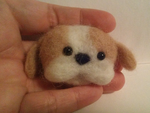 Needle Felted Puppy by fyrenwater