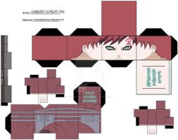 GAARA by animepapertoys