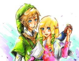 Link x Zelda by chriztaychuang