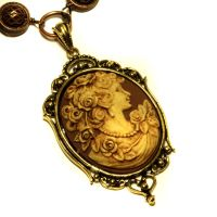 Neo Victorian - Necklace - Antebellum Cameo by CatherinetteRings