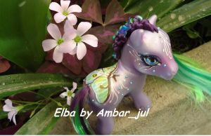 My little pony butterfly Elba by AmbarJulieta